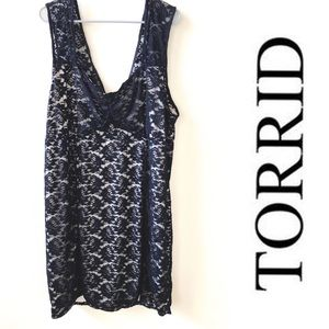 Torrid: black lace dress